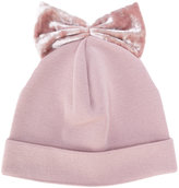 Federica Moretti bow embroidered beanie hat