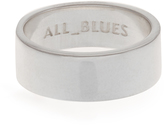 ALL BLUES Wide sterling-silver ring