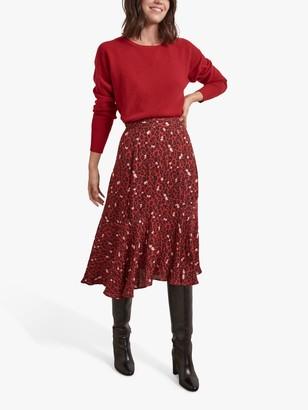 Gerard Darel Maria Floral Print Skirt, Red