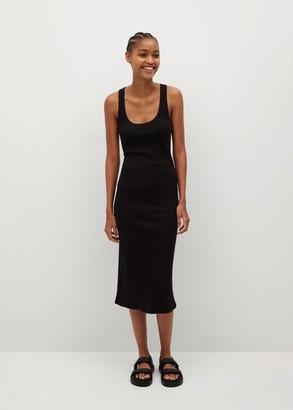 MANGO Fitted cotton dress