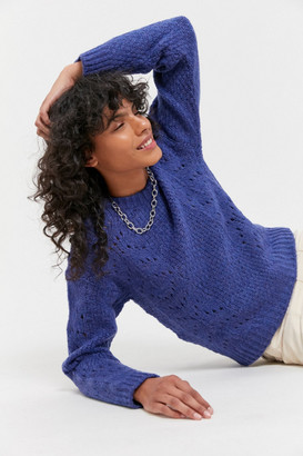 Urban Outfitters Libby Pointelle Crew Neck Sweater