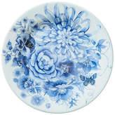 One Kings Lane Set of 4 Floral Melamine Salad Plates - Blue/White