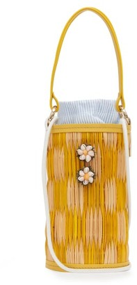 Heimat Atlantica Cupid Shell-embellished Reed Bag - Yellow Multi