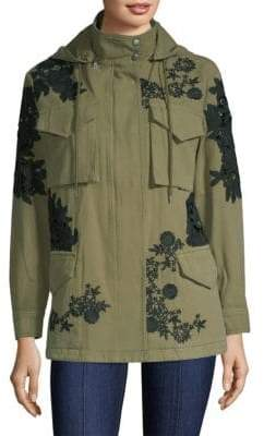 Alice + Olivia Meta Embroidered Oversized Jacket