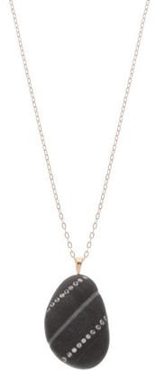 Cvc Stones Righe Diamond & 18kt Gold Necklace - Grey