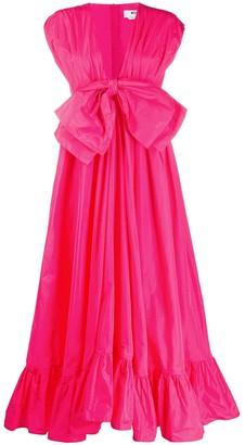 MSGM Statement Bow Midi Dress