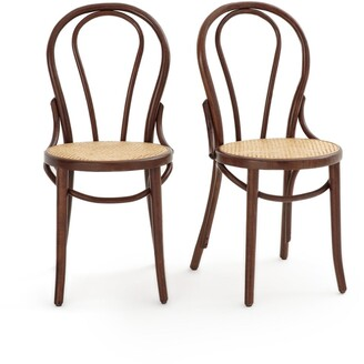 La Redoute Interieurs BISTRO Set of 2 Beech and Cane Chairs