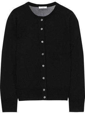 Equipment Primrose Embroidered Open Knit-paneled Wool Cardigan