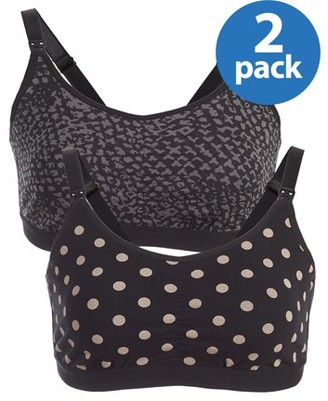 Loving Moments By Leading Lady Maternity Printed Nursing Bra With Half-Sling 2 Pack, Style L348