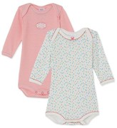 Petit Bateau Set of 2 baby girls long-sleeved bodysuits