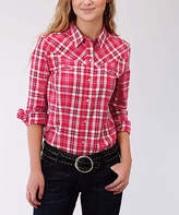 Roper Red Plaid Button-Up
