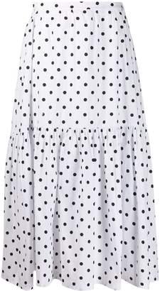 STAUD Polka-Dot Maxi Skirt