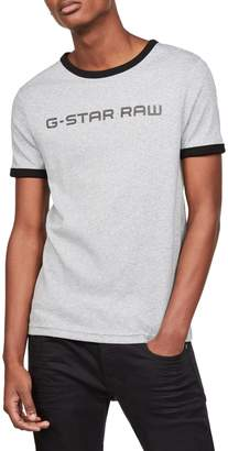 G Star Raw Short Sleeve Graphic Print Crew Neck
