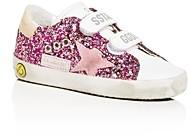 Golden Goose Girls' Old School Sparkly Low-Top Sneakers - Baby, Walker, Toddler