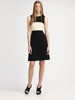 L'Agence A-Line Colorblock Dress