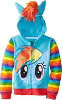 My Little Pony Little Girls' Rainbow Dash Hoodie
