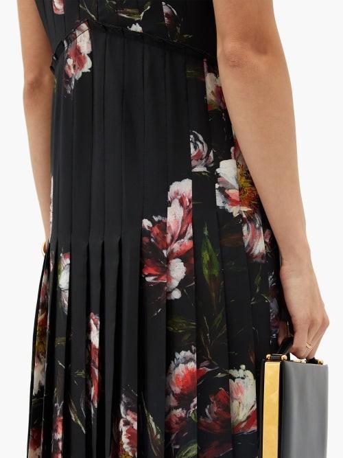 Thumbnail for your product : Altuzarra Bonnie Floral-print Crepe Midi Dress - Black