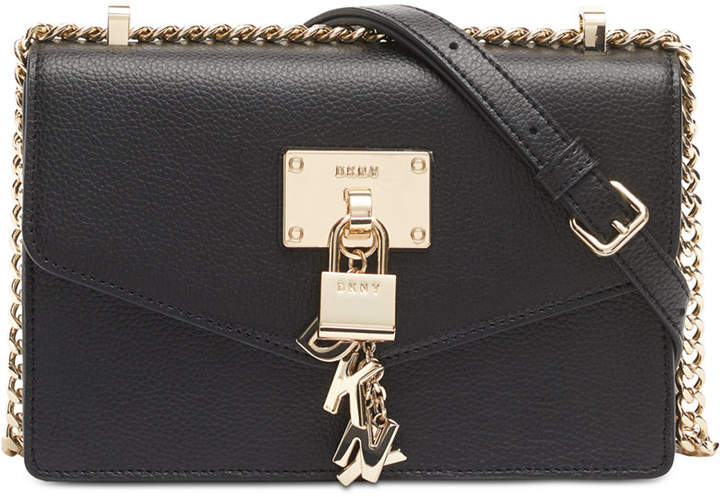 DKNY Elissa Small Leather Flap Shoulder Bag