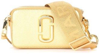 Marc Jacobs The Snapshot Small Camera Bag Shoulder Bag In Gold Leather