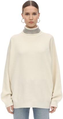 Alexander Wang Embellished Collar Wool Blend Sweater