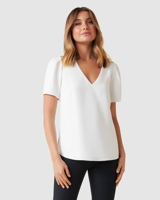 Forever New Vienna Short Sleeve Blouse