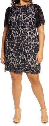 Eliza J Scallop Lace Sheath Dress