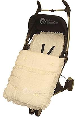 Bugaboo Broderie Anglaise Footmuff/Cosy Toes Compatible with Bee Cream