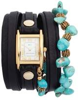 La Mer Oceana Stones Leather Wrap Watch, 29mm x 25mm