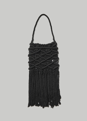 Y's by Yohji Yamamoto Macrame Big Bag in Black