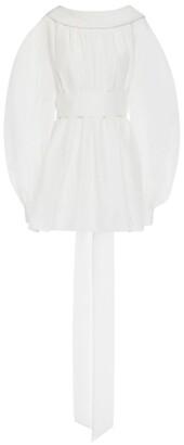 Alexander McQueen Cotton-Silk Bow-Back Blouse