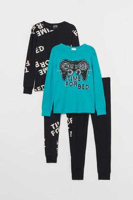 H&M 2-Pack Jersey Pyjamas