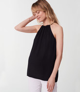 LOFT Maternity Tiered Halter Top