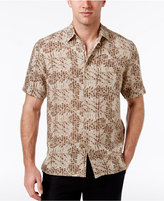 Tasso Elba Men's Silk & Linen Pattern Shirt, Created for Macy's