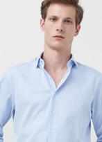 MANGO MAN Slim-Fit Tailored Fine-Stripe Shirt