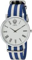 Vince Camuto Women's VC/5303SVBL Blue and White Nylon Strap Watch