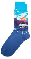Corgi Speeding Car Socks