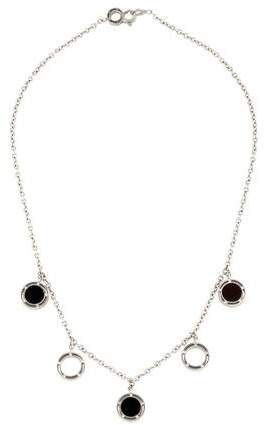 Damiani 18K Onyx & Diamond Pendant Necklace