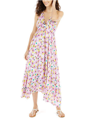 Kate Spade Floral Halter Maxi Swim Cover-Up Dress Women Swimsuit