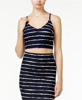 Bar III Striped Crop Top, Only at Macy's
