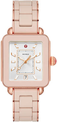 Michele Deco Sport Bracelet Watch in Desert Rose