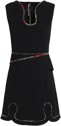 Roland Mouret Cutout Embroidered Crepe Mini Dress