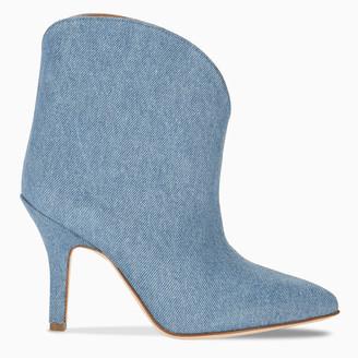 Paris Texas Denim pointed ankle boots