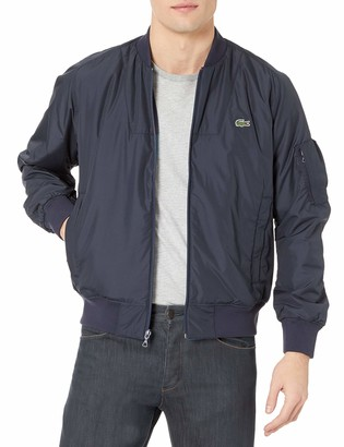 Lacoste Men's Reversible Colorblock Taffeta Bomber Jacket