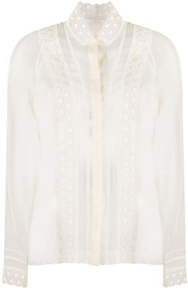 Chloé Embroidered Long-Sleeved Blouse