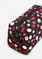 MANGO Geometric print cosmetic bag