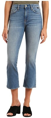 Mavi Jeans Anika High-Rise Cropped Flare in Used Destroyed Hem Vintage (Used Destroyed) Women's Jeans