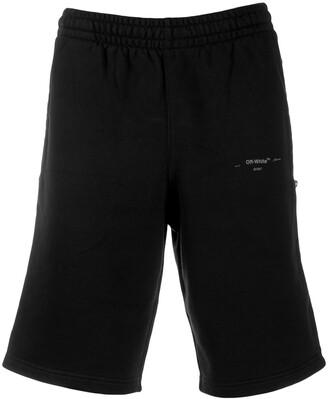 Off-White Logo Print Bermuda Shorts