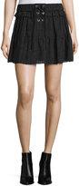 IRO Carmel Tiered Chiffon Skirt, Black