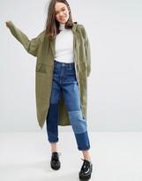 Monki Longline Anorak Jacket