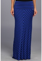 Calvin Klein Mitered Stripe Maxi Skirt